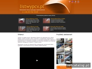 Zrzut ekranu strony www.listwypcv.pl