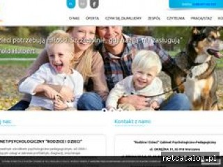 Zrzut ekranu strony rodziceidzieci.com