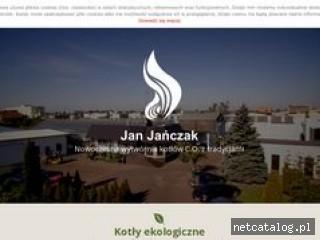 Zrzut ekranu strony www.kotly-janczak.pl