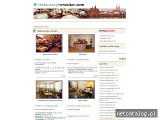Zrzut ekranu strony www.restauracjewroclaw.com