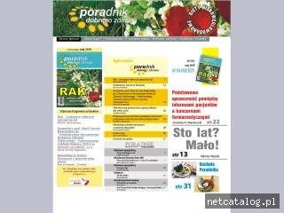 Zrzut ekranu strony www.poradnikdozdrowia.pl