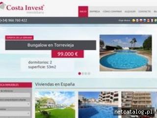 Zrzut ekranu strony www.costainvest.com