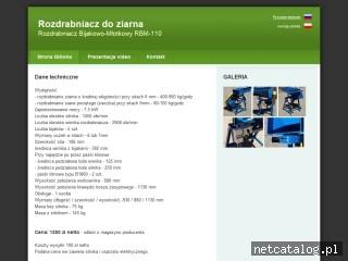 Zrzut ekranu strony www.rozdrabniaczziarna.pl