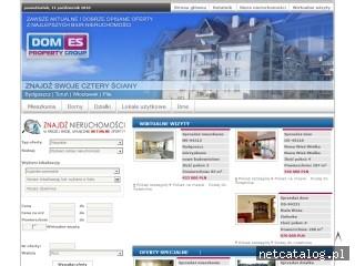 Zrzut ekranu strony www.domes.pl