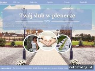 Zrzut ekranu strony slub-w-plenerze.com