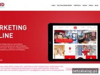 Zrzut ekranu strony www.adhdinteractive.pl