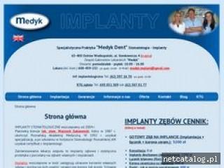 Zrzut ekranu strony www.medykdent.pl
