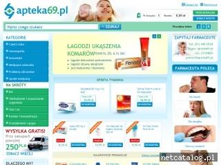 Zrzut ekranu strony www.apteka69.pl