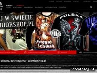 Zrzut ekranu strony www.warriorshop.pl