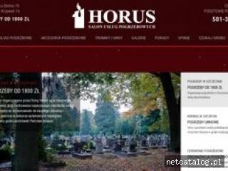 Zrzut ekranu strony www.horus.szczecin.pl