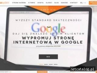 Zrzut ekranu strony www.sunrisesystem.pl