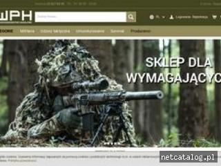 Zrzut ekranu strony wphmilitaria.pl