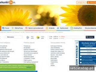 Zrzut ekranu strony www.opiekunki24.pl