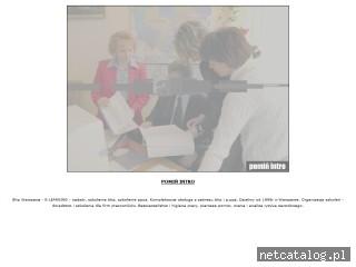 Zrzut ekranu strony www.aktyw-bhp.pl