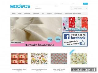 Zrzut ekranu strony www.modeos.pl