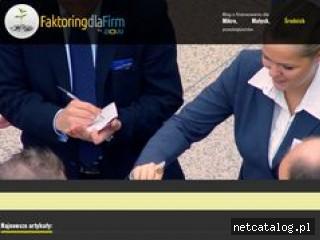 Zrzut ekranu strony www.faktoringdlafirm.pl