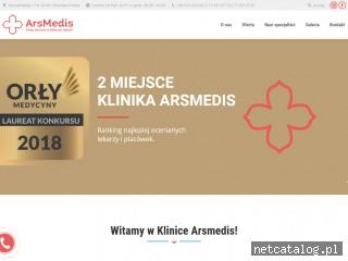 Zrzut ekranu strony arsmedis.pl