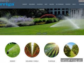 Zrzut ekranu strony www.irriga.pl