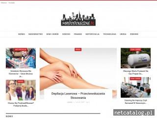 Zrzut ekranu strony miastostoleczne.pl