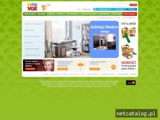Zrzut ekranu strony www.baby.vox.pl