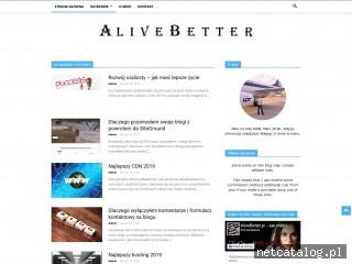 Zrzut ekranu strony www.alivebetter.pl