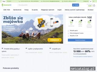 Zrzut ekranu strony diabetyk24.pl