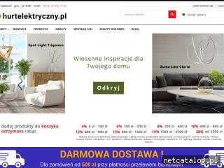 Zrzut ekranu strony www.hurtelektryczny.pl
