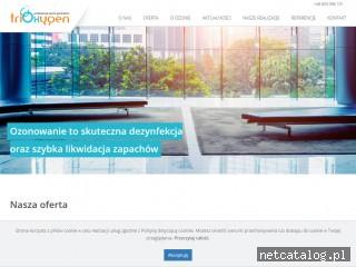 Zrzut ekranu strony fabrykaozonu.pl