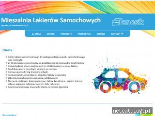 Zrzut ekranu strony lanosik.eu