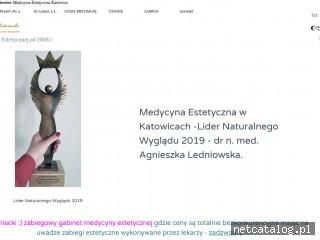 Zrzut ekranu strony gabinet-estetyczny.pl