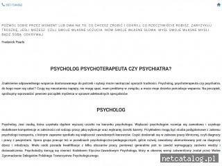Zrzut ekranu strony psycholog.priv.pl