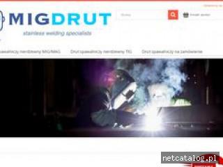 Zrzut ekranu strony migdrut.pl