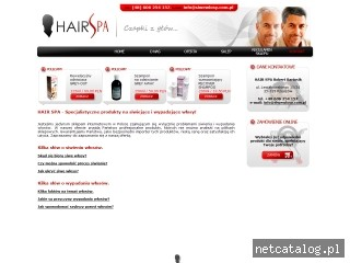 Zrzut ekranu strony www.siwewlosy.com.pl