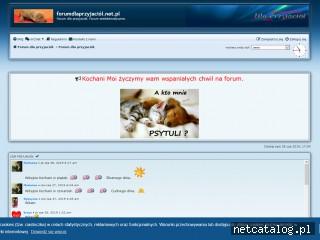 Zrzut ekranu strony forumdlaprzyjaciol.net.pl