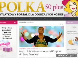 Zrzut ekranu strony www.polka50plus.pl