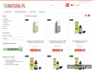 Zrzut ekranu strony tunatura.pl