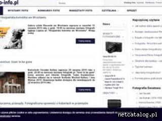 Zrzut ekranu strony www.foto-info.pl