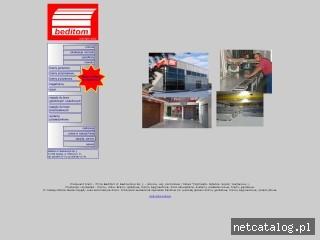 Zrzut ekranu strony www.beditom.com.pl