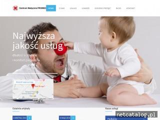 Zrzut ekranu strony cmpromed4kids.pl