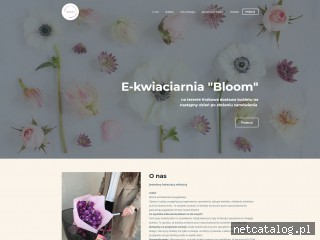 Zrzut ekranu strony bloomflowersshop.com