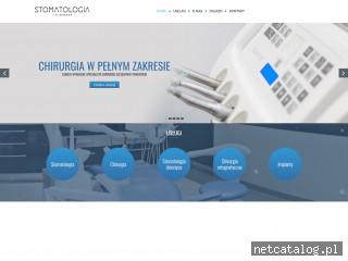 Zrzut ekranu strony www.stomatologia-mrowka.pl