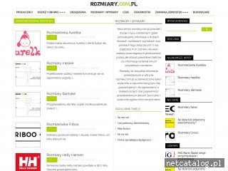Zrzut ekranu strony rozmiary.com.pl