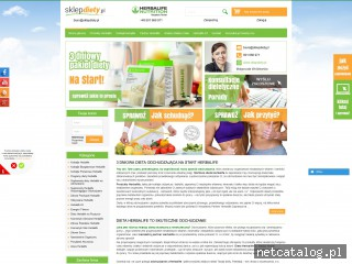 Zrzut ekranu strony www.sklepdiety.pl