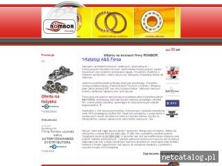 Zrzut ekranu strony www.rombor.com.pl