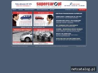 Zrzut ekranu strony www.supercar.pl