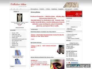 Zrzut ekranu strony www.adamtie.com