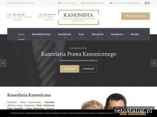 Zrzut ekranu strony www.kanonista.com