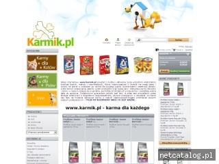 Zrzut ekranu strony www.karmik.pl
