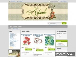 Zrzut ekranu strony artando.pl
