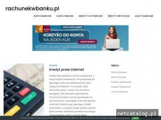Zrzut ekranu strony rachunekwbanku.pl